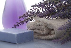 Badezimmer Lavendel