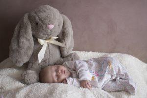 Hase mit Baby am schlafen