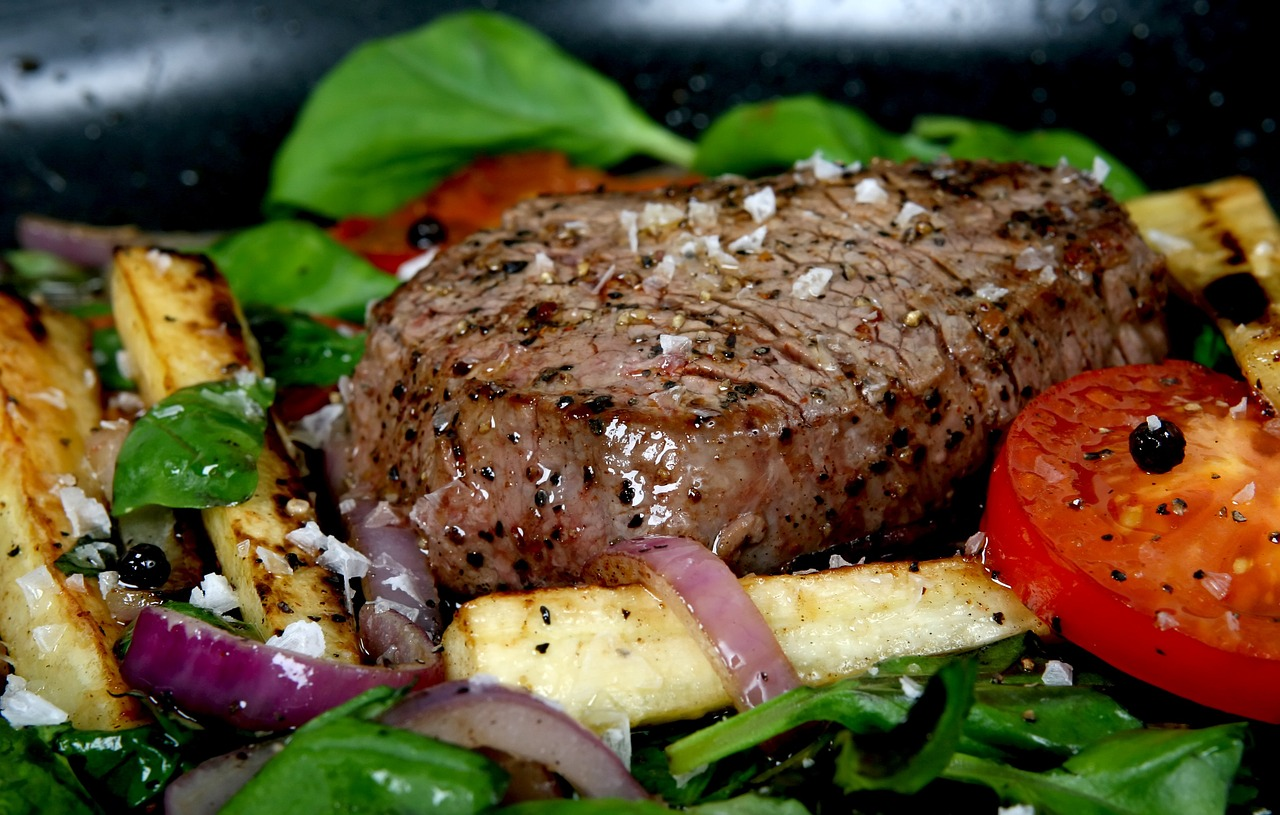 Salzflocken für Steak