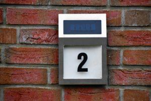 Hausnummer-beleuchtet