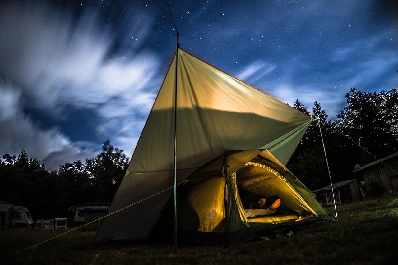 Geertop-Zelt bei Nacht