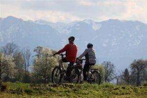 Zwei Fahrradfahrer