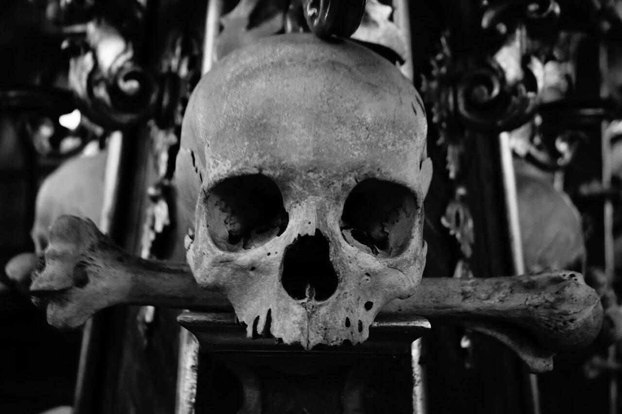Totenkopf-Motiv für eine Totenkopf Bettwäsche