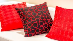 Couch Kissen XXL in rot
