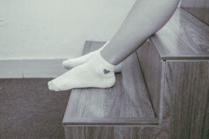 Socken mit Herz